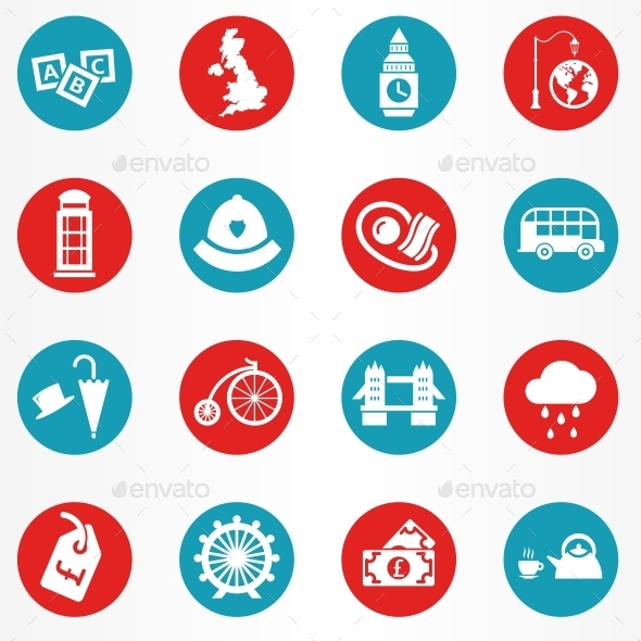GraphicRiver London Icons Circle 10686323