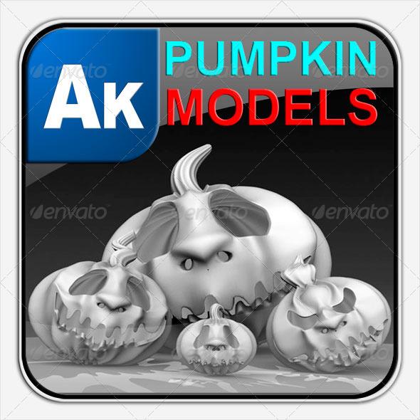 3DOcean Halloween Pumpkins Models 133690