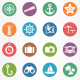 Sea and Beach Circle Icons - GraphicRiver Item for Sale