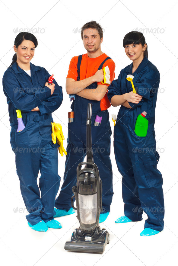PhotoDune Cleaning service workers team 1075217