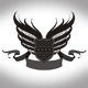 Black winged shield - GraphicRiver Item for Sale
