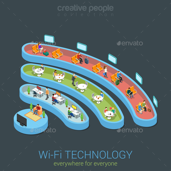 GraphicRiver Public Wi-Fi Zone Wireless 10687349