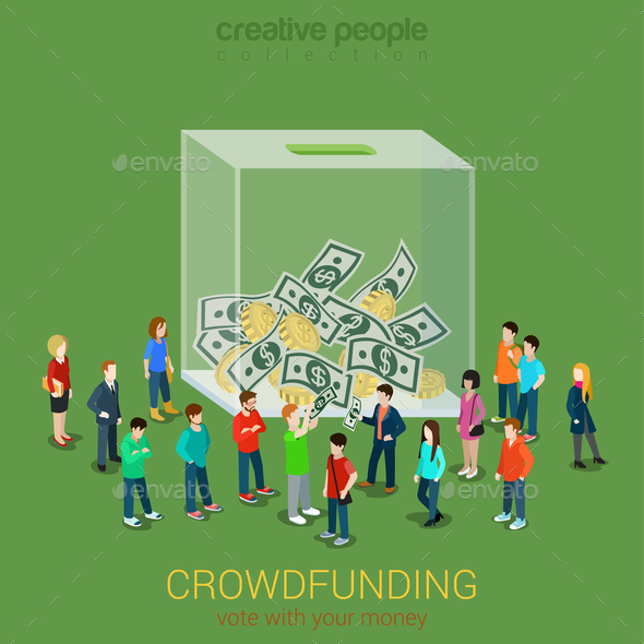 GraphicRiver Business Idea Crowdfunding Volunteer Concept 10687989