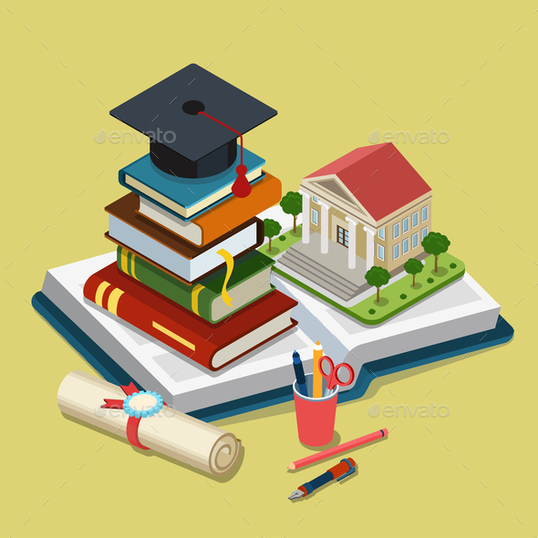 GraphicRiver College University Education Graduation 10687991