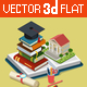 College University Education Graduation - GraphicRiver Item for Sale