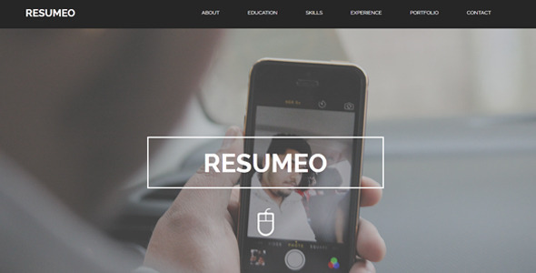 ThemeForest Resumeo One Page Resume Template 10688007