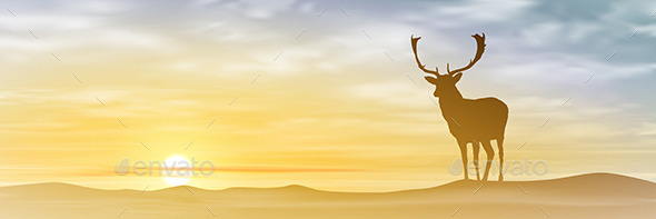 GraphicRiver Male Stag Deer 10688329