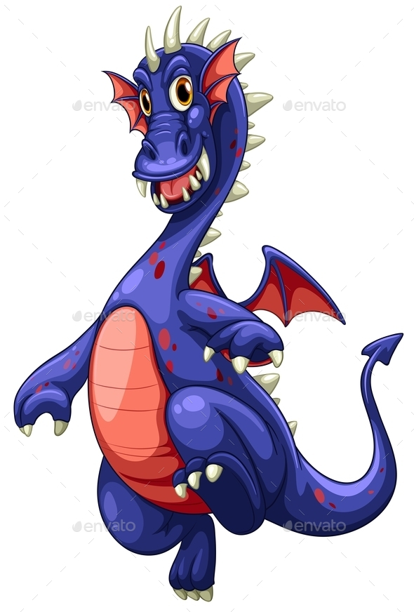 GraphicRiver Blue Dragon Illustration 10688346