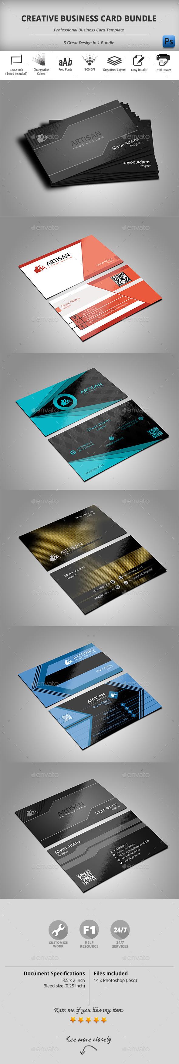 GraphicRiver Creative Business Card Bundle 10688424