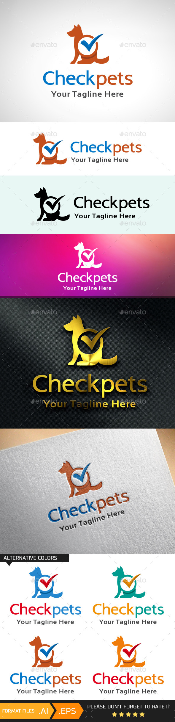 GraphicRiver Check Pets Logo Template 10688481