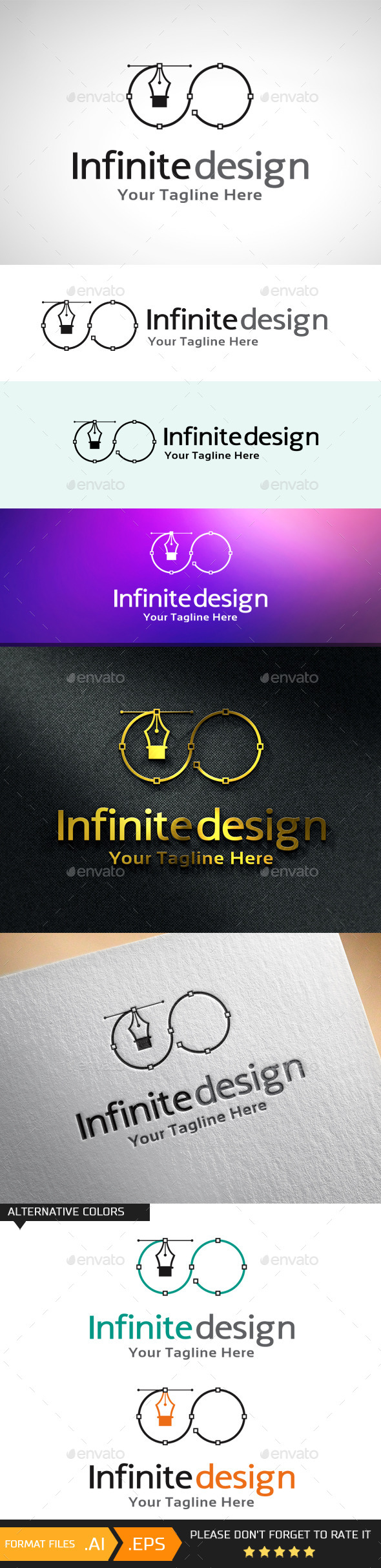 GraphicRiver Infinite Design Logo Template 10688933