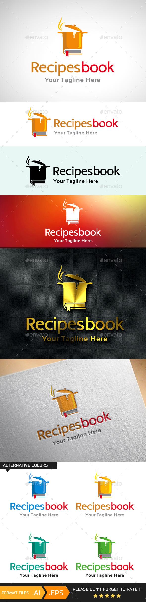GraphicRiver Recipes Book Cook Logo 10688940