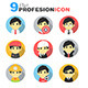 Professional Flat icon - GraphicRiver Item for Sale