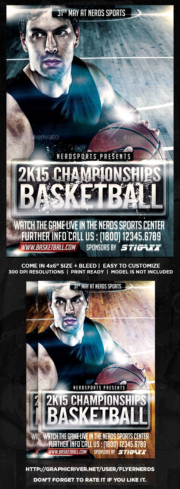 GraphicRiver Basketball Championships Sports Flyer 10689073
