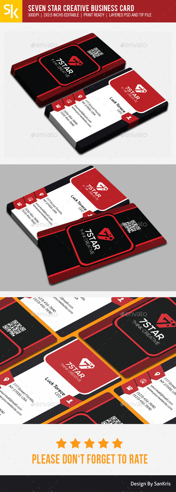 GraphicRiver Seven Star Creative Business Card 10689490