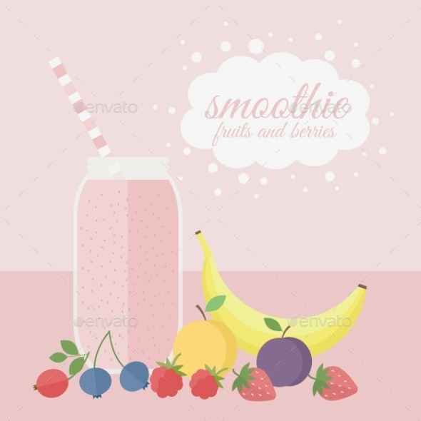 GraphicRiver Fruit and Berry Smoothie 10689591