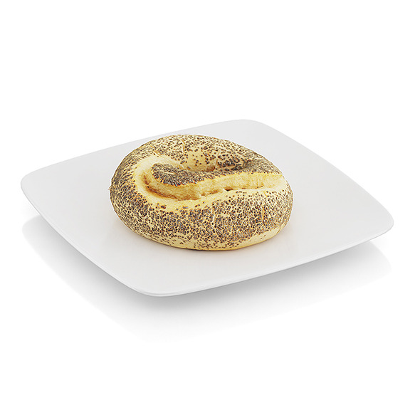 Bagel with poppy seeds - 3DOcean Item for Sale