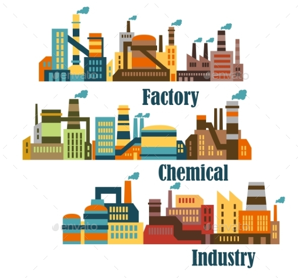 GraphicRiver Chemical and Industrial Factories 10690056