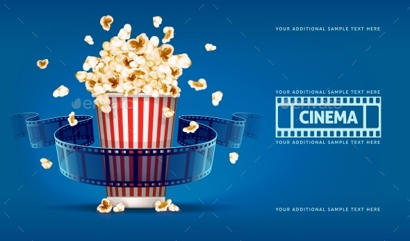 GraphicRiver Popcorn for Movie Theater 10690206