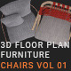 3D Floorplan Furniture Chairs Vol01