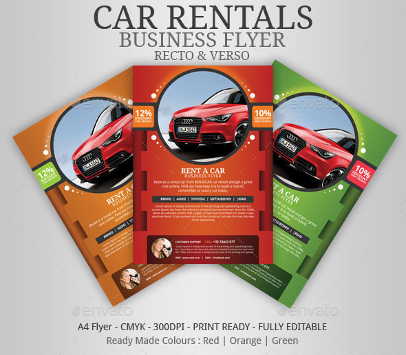 Apartment For Rent Flyer: Car Rentals Business Flyer By BloganKids