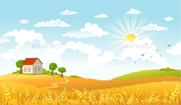 GraphicRiver Farm Landscape 10690927