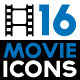 Set of Icons Related to Cinema and Film Industry - GraphicRiver Item for Sale