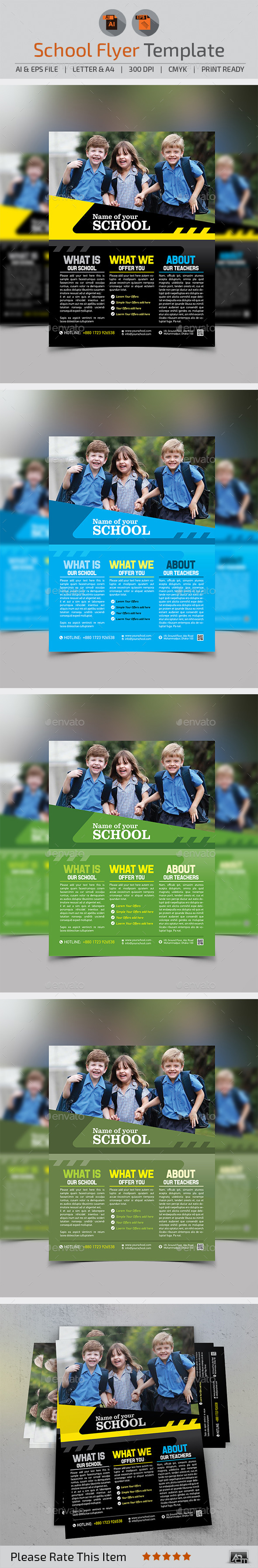 GraphicRiver School Flyer 10691171