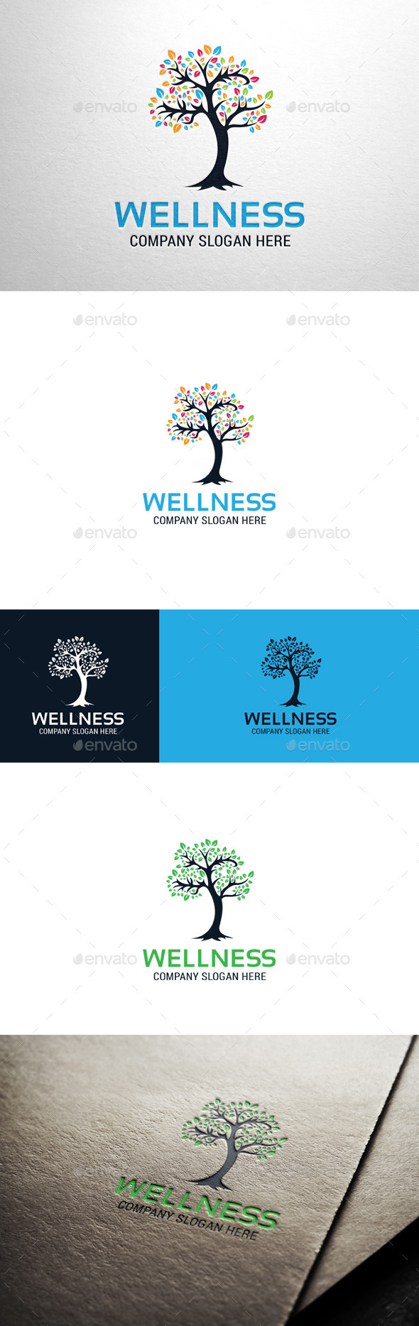 GraphicRiver Wellness Tree Logo 10691476