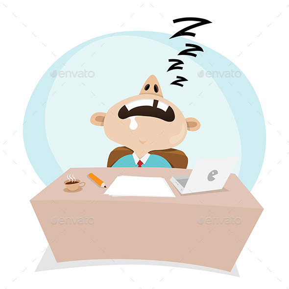 GraphicRiver Sleeping At Work 10691814