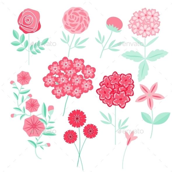 GraphicRiver Flowers Set 10691924