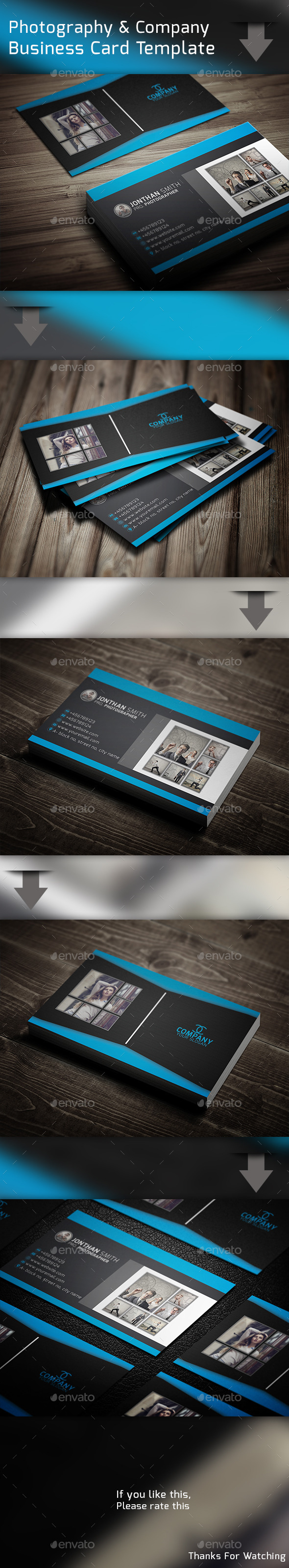 GraphicRiver Photography & Company Business Card Template 10692020