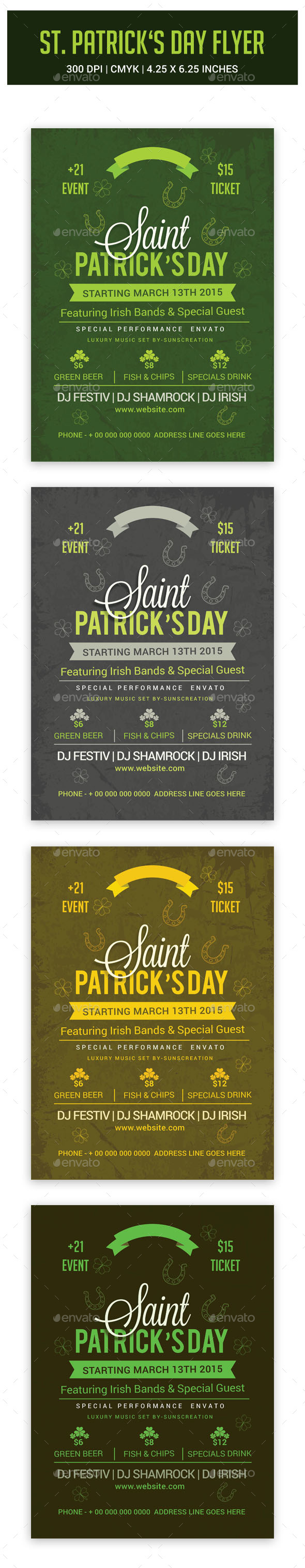 GraphicRiver St.Patrick s Day Flyer 10692088