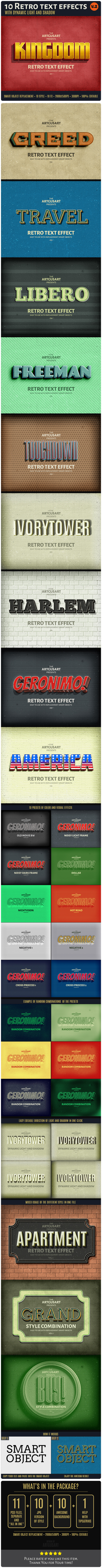GraphicRiver 10 Retro Text Effect v.2 10692122