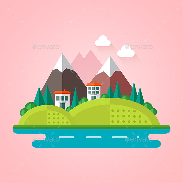 GraphicRiver Landscape Flat Icon 10692147