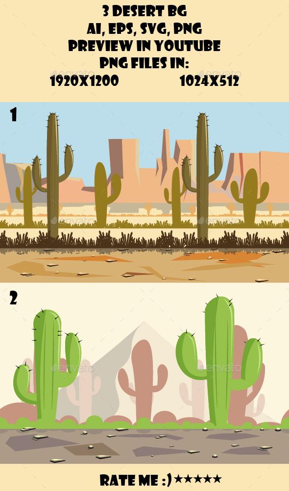 GraphicRiver 2 Desert BG 10692154