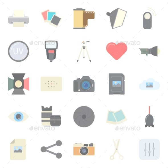 GraphicRiver Photo Equipment Icons 10692797