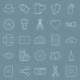 Photo Equipment Line Icons - GraphicRiver Item for Sale