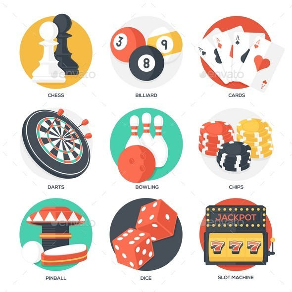 GraphicRiver Casino Sport and Leisure Games Icons 10692800