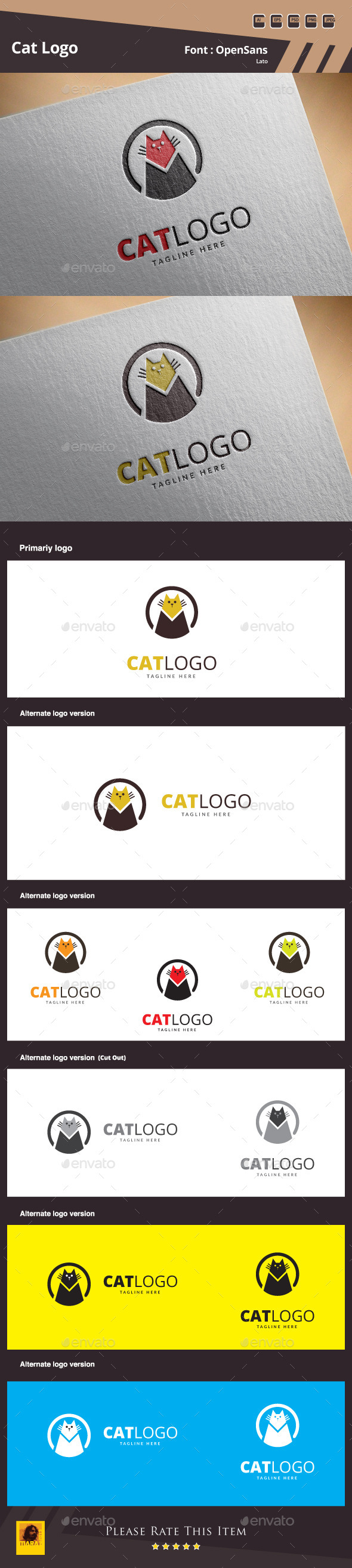 GraphicRiver Cat Logo Template 10692883
