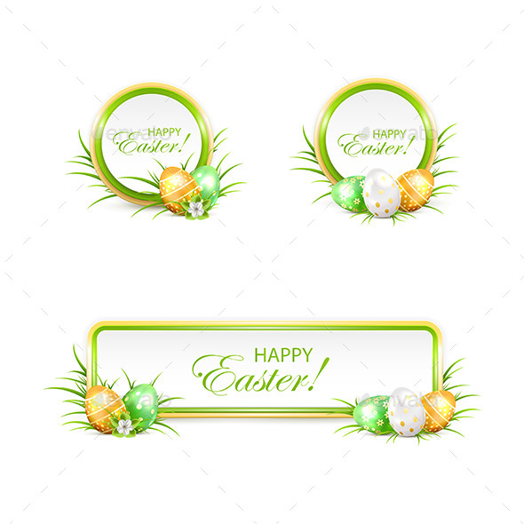 GraphicRiver Set of Easter Banners and Eggs 10693053