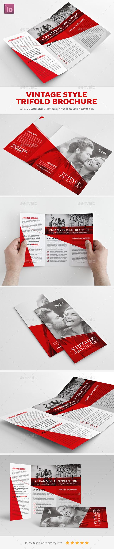 GraphicRiver Vintage Trifold Brochure 10693361