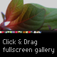 Click and Drag Fullscreen Gallery - ActiveDen Item for Sale