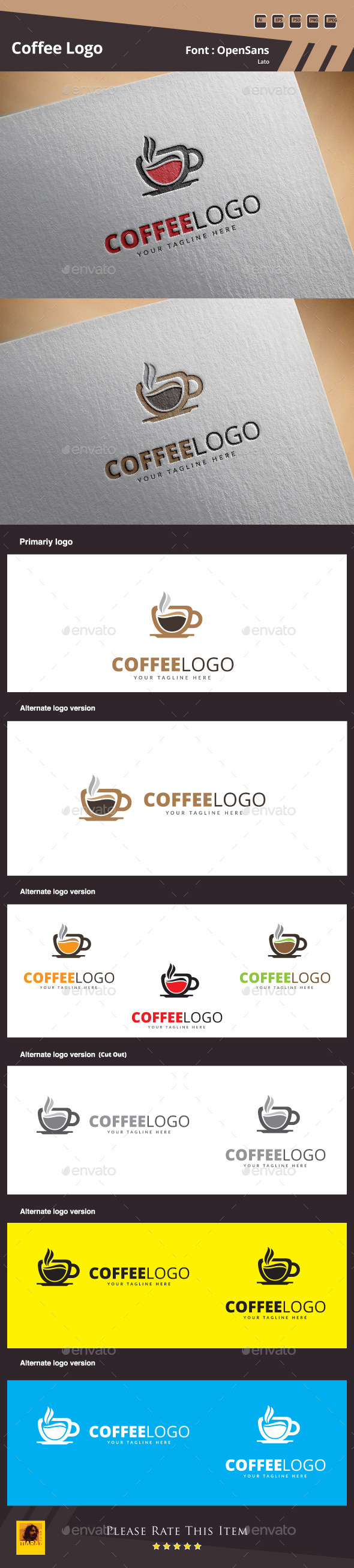 GraphicRiver Coffee Logo Template 10693774
