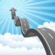 Arrow Road Through the Clouds - GraphicRiver Item for Sale