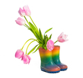 Tulip flowers in rubber boots - PhotoDune Item for Sale