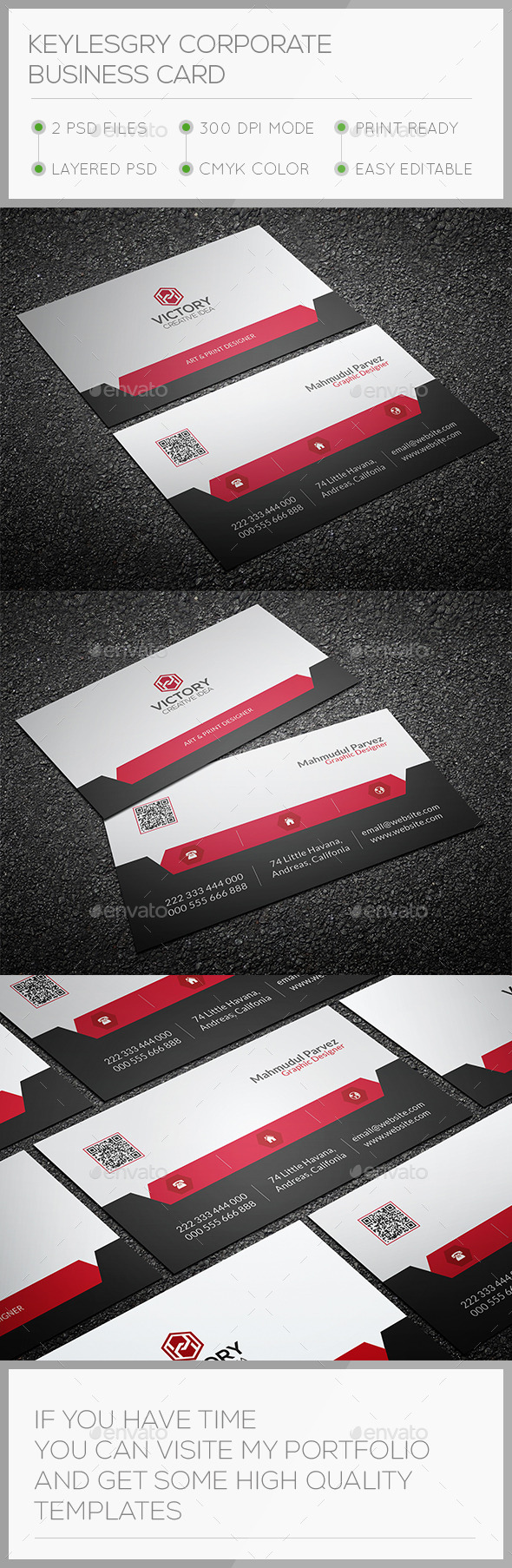 GraphicRiver Keylesgry Corporate Business Card 10694035