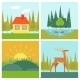 Nature Landscapes of Outdoor Life - GraphicRiver Item for Sale