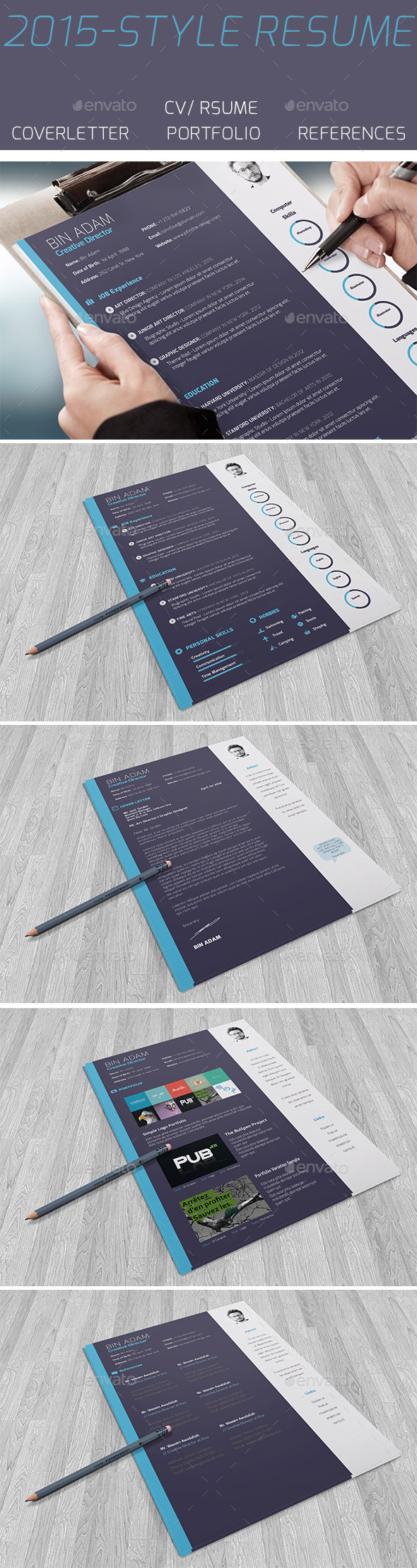 GraphicRiver 2015-Style Resume 10694128
