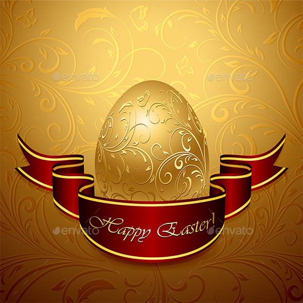 GraphicRiver Easter Egg and Ribbon 10694125
